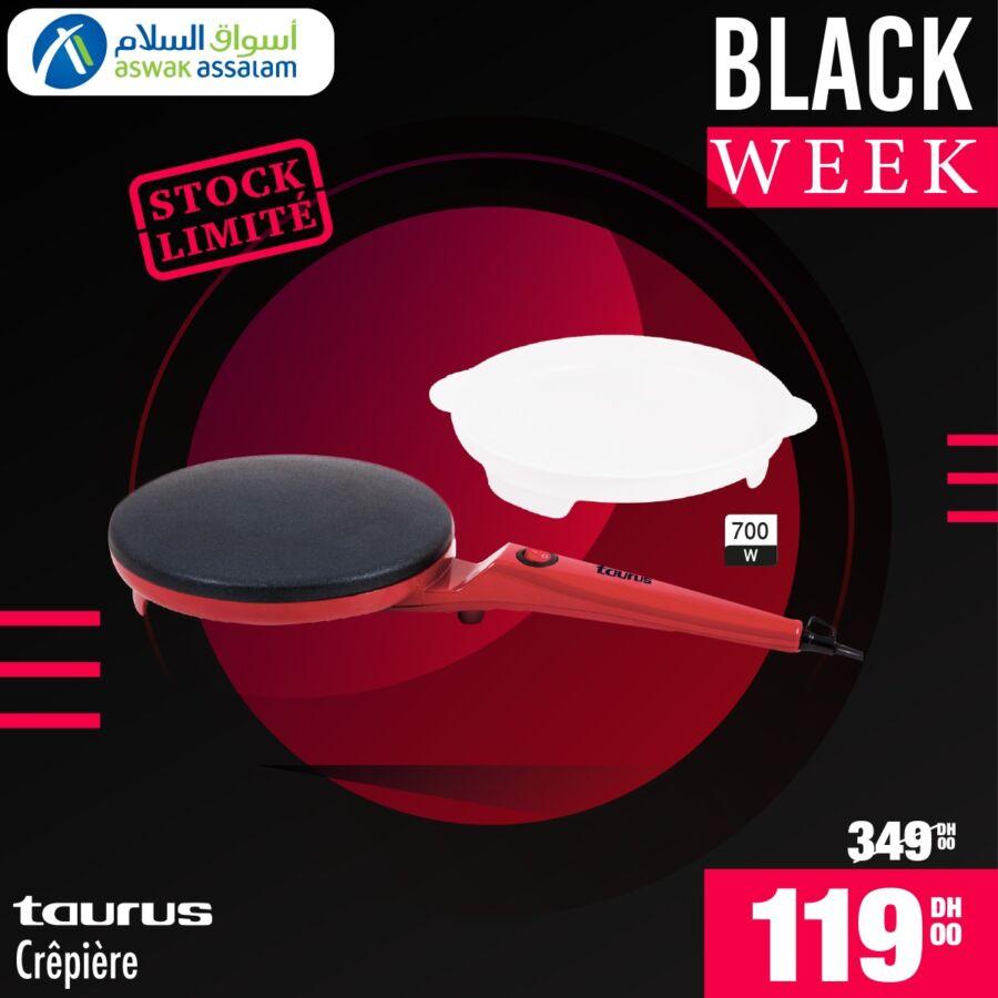 Black Week Aswak Assalam Crêpière TAURUS à 119Dhs au lieu de 349Dhs