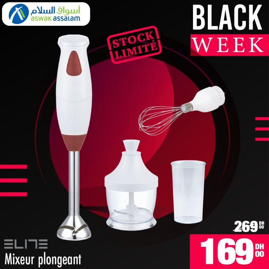 Black Week Aswak Assalam Mixeur plongeant ELITE 169Dhs au lieu de 269Dhs