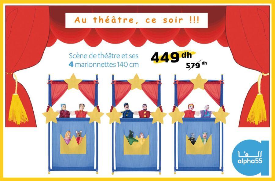 Promo Alpha55 Scène de théâtre et 4 Marionnette 449Dhzs au lieu de 579Dhs