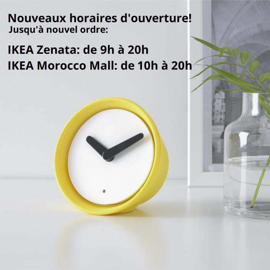 Nouveaux horaires d'ouverture des magasins Ikea Maroc jusqu'à nouvel ordre