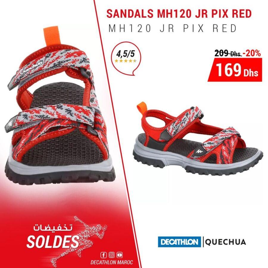 Soldes Decathlon Maroc Sandales MH120 QUECHUA 169Dhs au lieu de 209Dhs