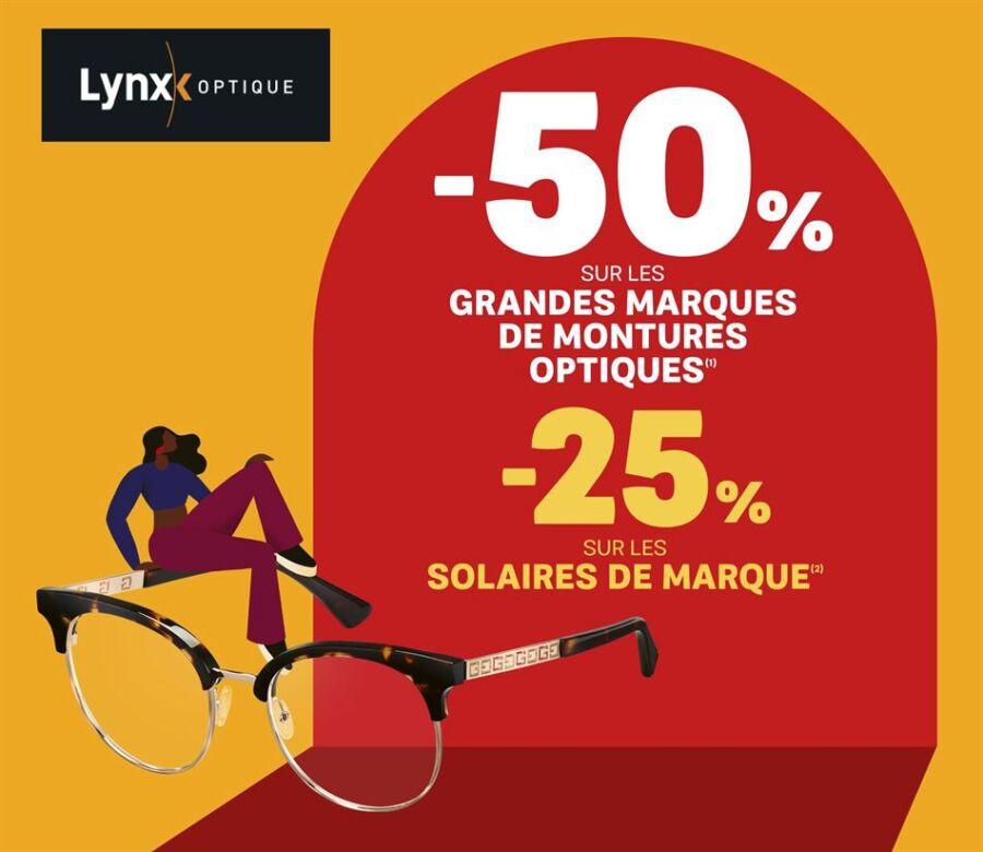 Offres Lynx Optique -50 sur les grandes marques de montures optiques