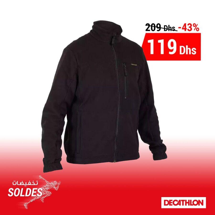 Soldes Decathlon Maroc Polaire Chasse 300 Noir SOLOGNAC 119Dhs au lieu de 209Dhs