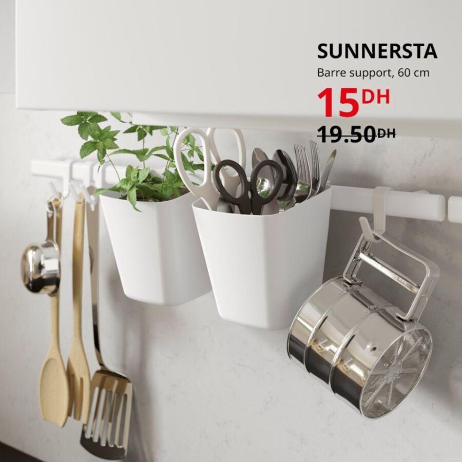 Soldes Ikea Maroc Barre support 60cm SUNNERSTA 15Dhs au lieu de 19.50Dhs