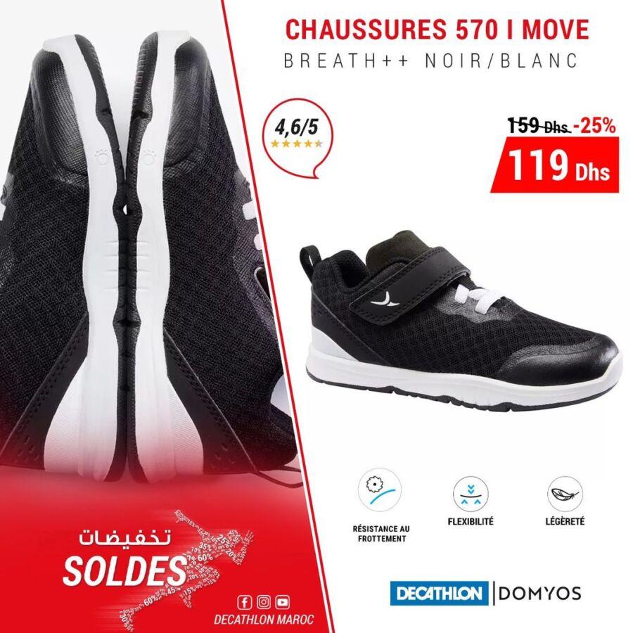 Soldes Decathlon Maroc Chaussures 570 I MOVE DOMYOS 119Dhs au lieu de 259Dhs