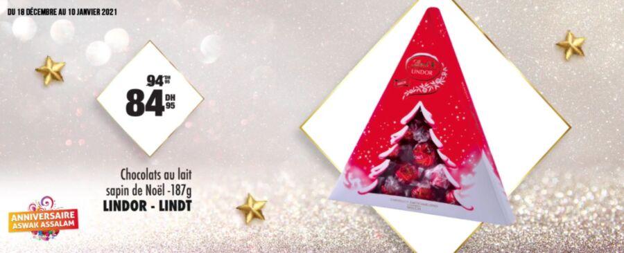 Soldes Aswak Assalam Chocolats au lait LINDOR - LINDT 85Dhs au lieu de 95Dhs