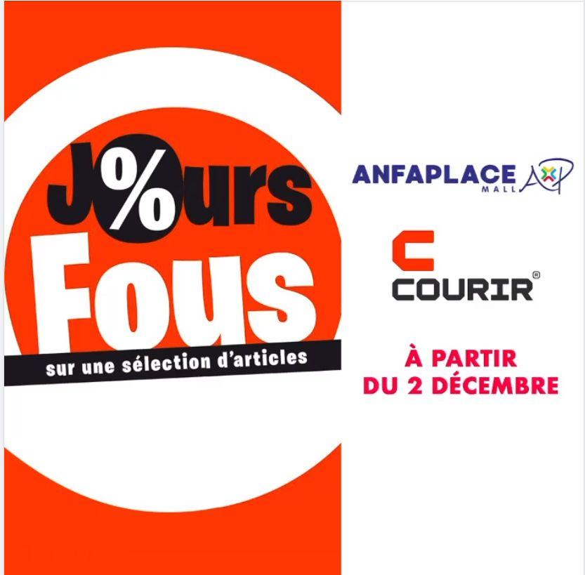 JOURS FOUS à Anfaplace Mall pour les enseignes Go Sport Courir et Iam