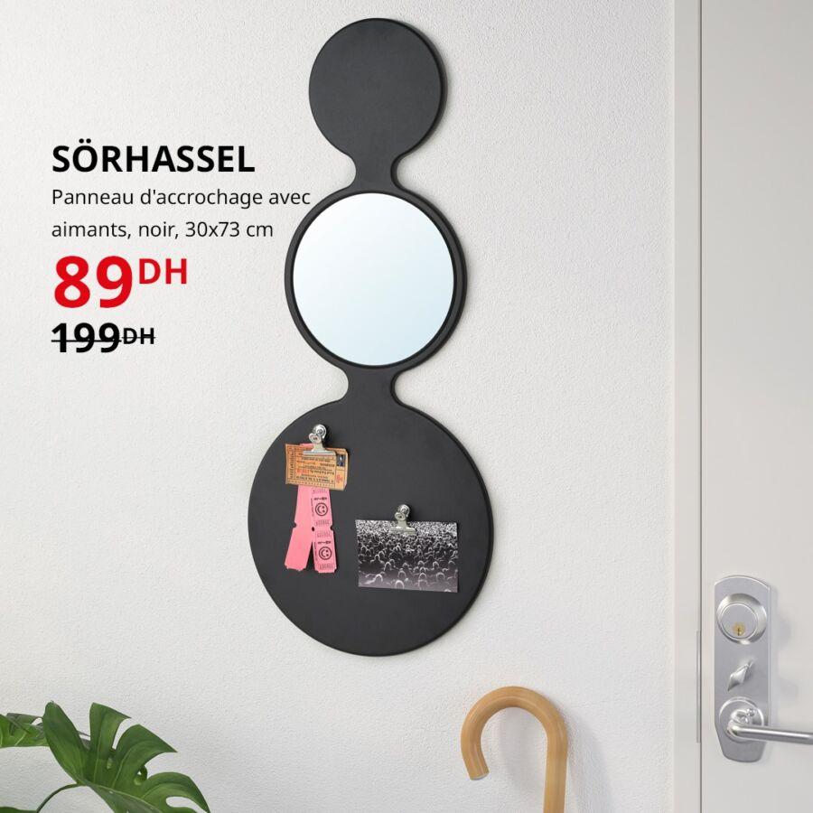 Soldes Ikea Maroc Panneau d'accrochage avec aimants 89Dhs au lieu de 199Dhs