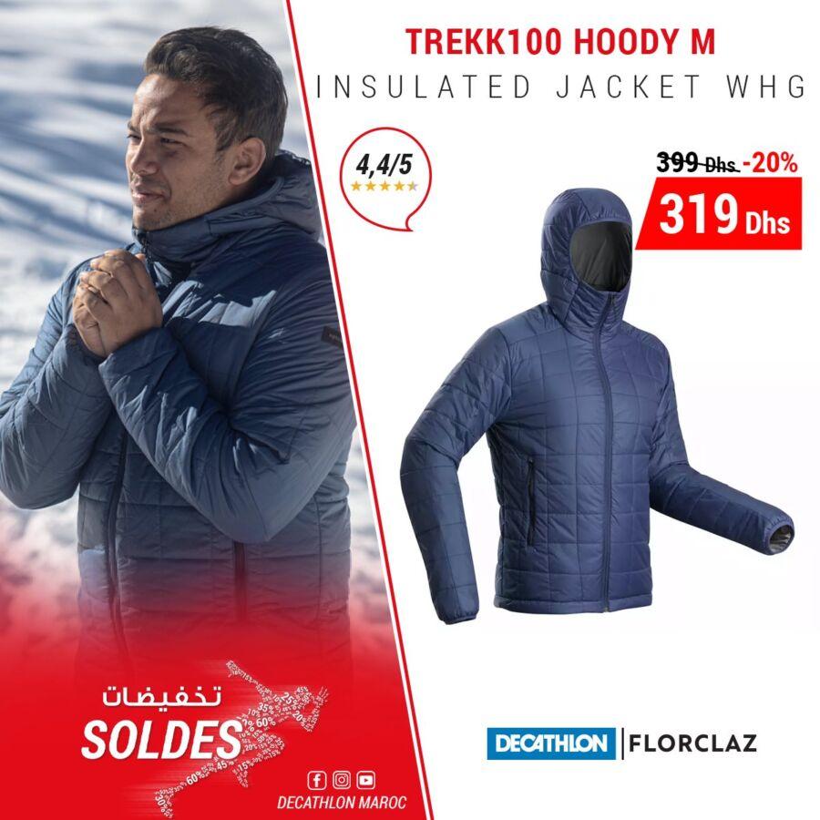 Soldes Decathlon Maroc Jacket pour homme TREKK100 FORCLAZ 319Dhs au lieu de 399Dhs