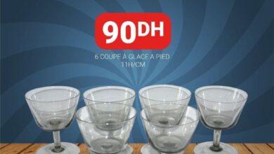 Spécial Offre chez Yatout Home 6 Coupe à glace a pied 11H/CM à 90Dhs