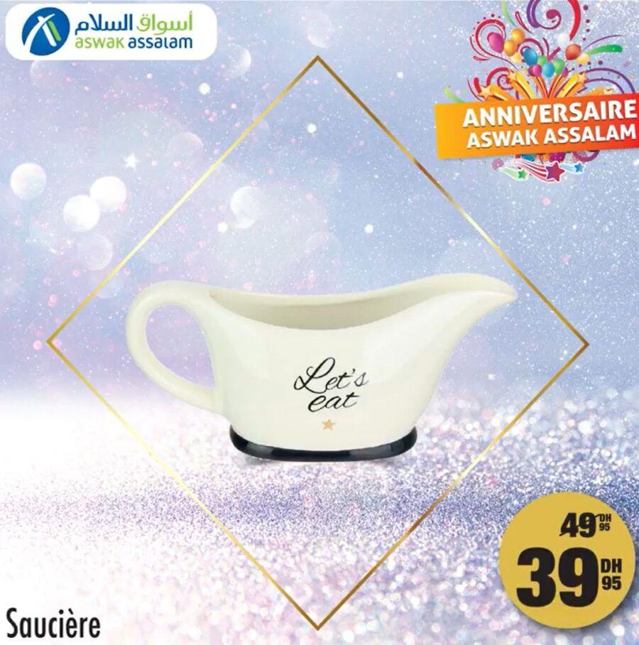 Soldes chez Aswak Assalam Saucière en porcelaine 39Dhs au lieu de 49Dhs