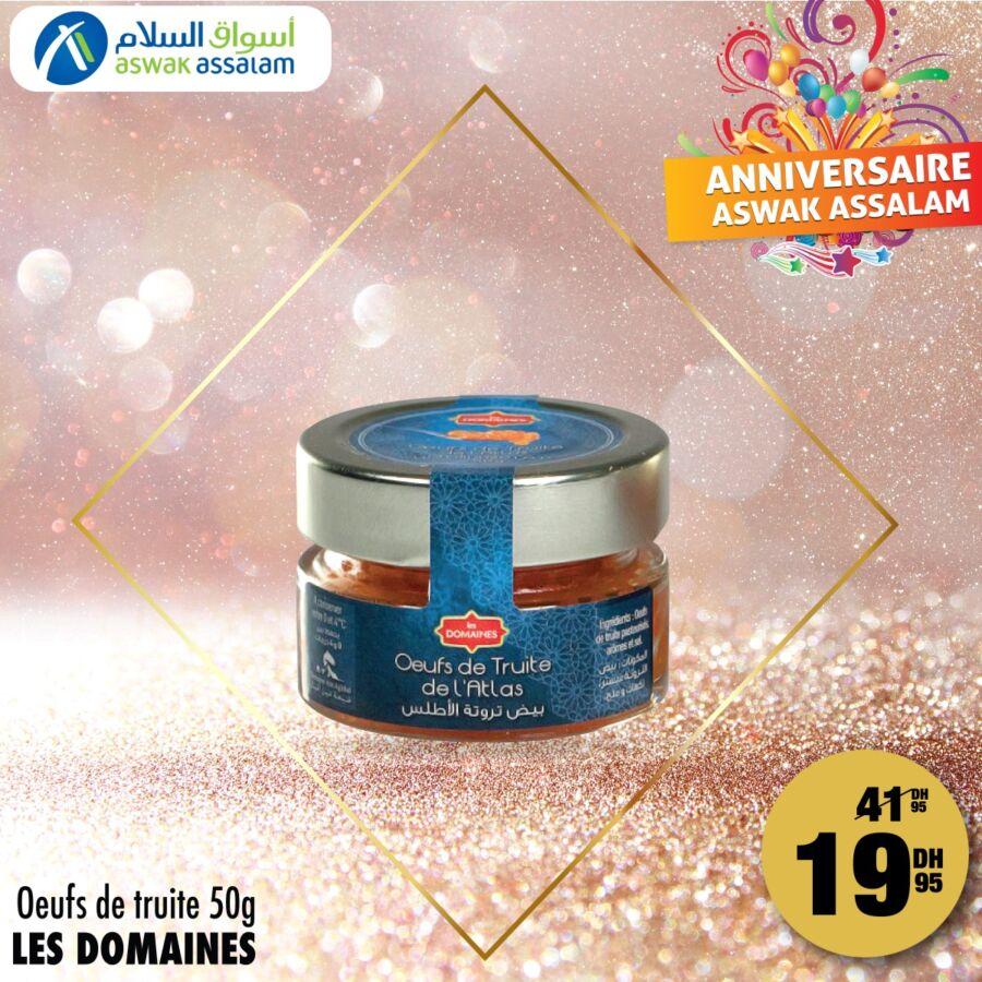 Soldes Aswak Assalam Œufs de truite 50g LES DOMAINES 20Dhs au lieu de 42Dhs