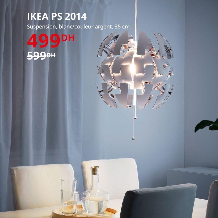 Soldes Ikea Maroc Suspension IKEA PS 2014 35cm 499Dhs au lieu de 599Dhs
