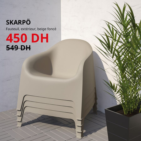 Soldes Ikea Maroc Fauteuil extérieur SKARPO 450Dhs au lieu de 549Dhs
