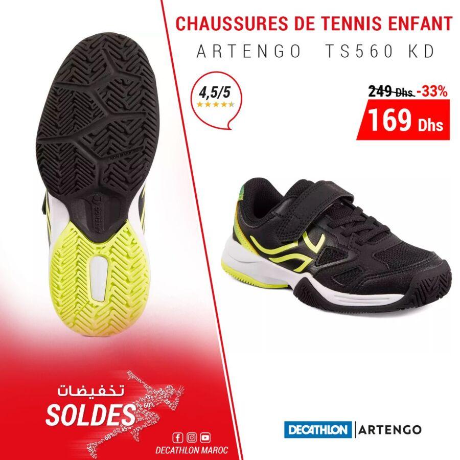 Soldes Decathlon Maroc Chaussure tennis enfant ARTEGNO 169Dhs au lieu de 249Dhs
