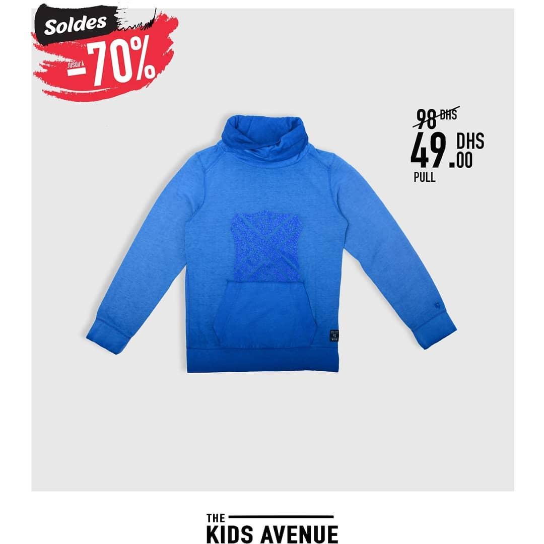 Soldes Kids Avenue chez Miro Home Pull et Sweat-shirt enfant 49Dhs au lieu de 98Dhs