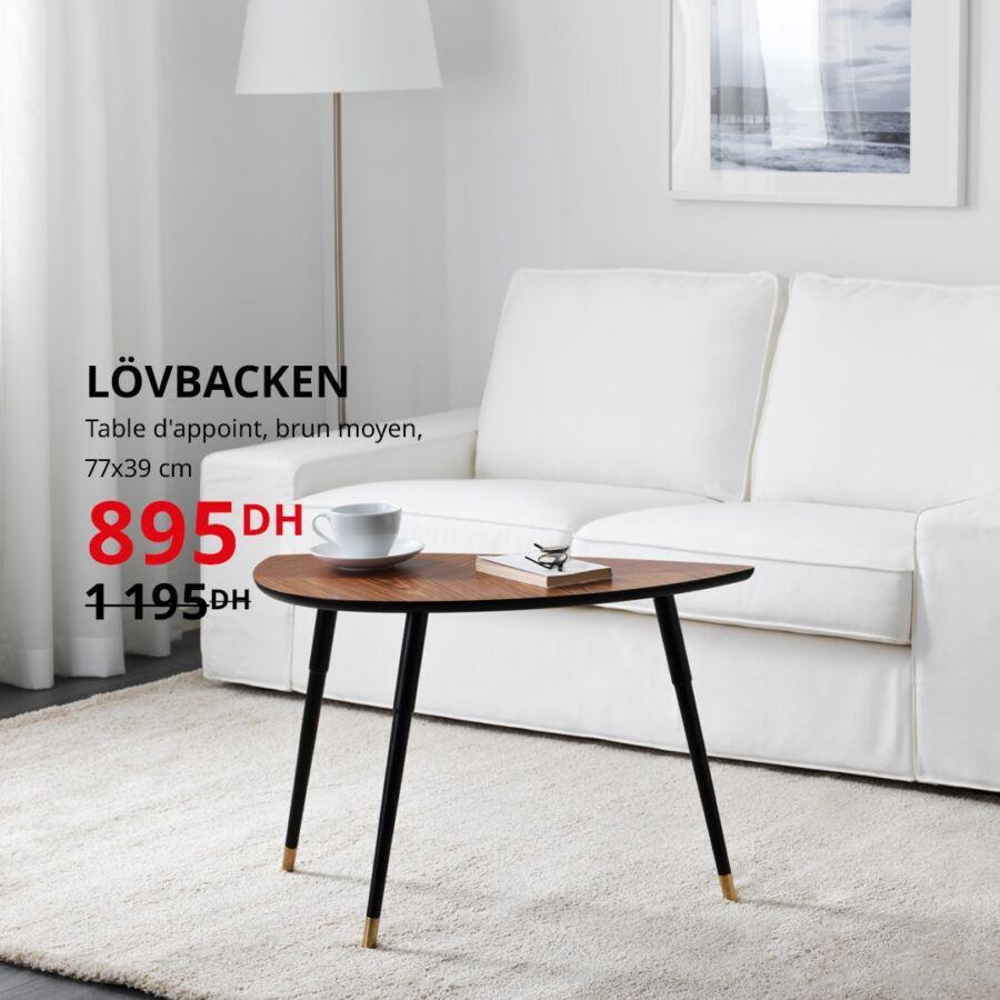 Soldes Ikea Maroc Table d'appoint LOVBACKEN 895Dhs au lieu de 1195Dhs