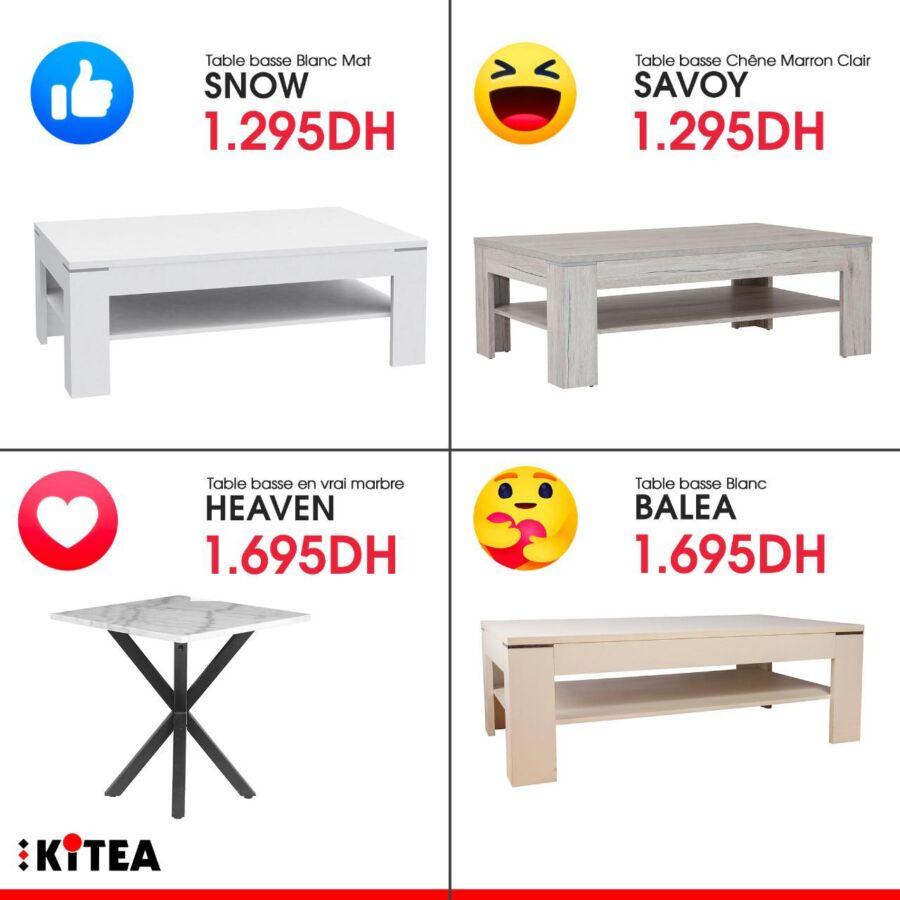 Offres d'hiver chez Kitea Spécial Tables basse à partir de 1295Dhs