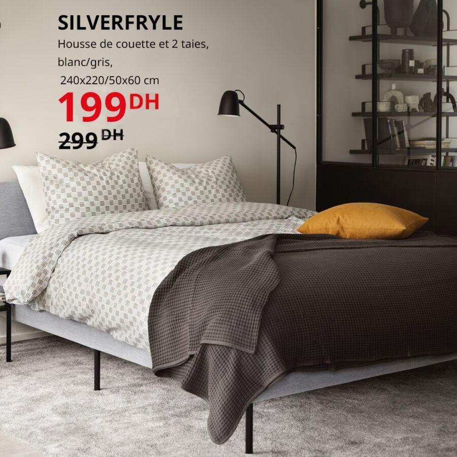 Soldes Ikea Maroc Housse de couette et 2 taies 199Dhs au lieu de 299Dhs