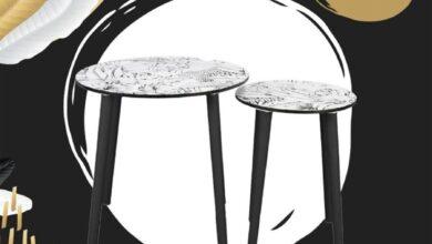 Soldes Aswak Assalam Lot de 2 tables gigognes 499Dhs au lieu de 599Dhs