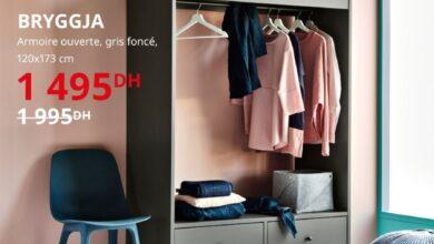 Soldes Ikea Maroc Armoire ouverte gris foncé BRYGGJA 1495Dhs au lieu de 1995Dhs
