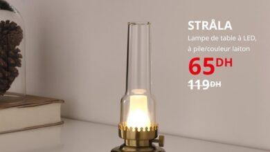 Soldes Ikea Maroc Lampe de table à LED à pile STRALA 65Dhs au lieu de 119Dhs