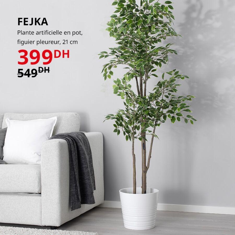 Soldes Ikea Maroc Plante artificielle en pot FEJKA 399Dhs au lieu de 549Dhs