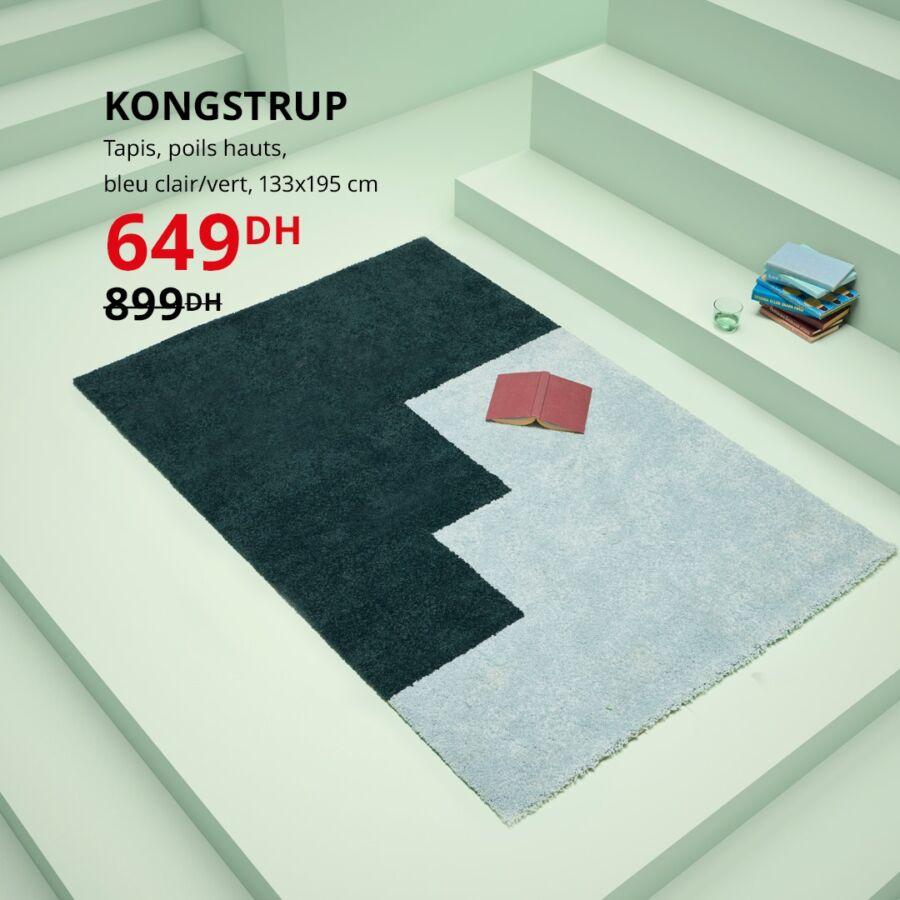 Soldes Ikea Maroc Tapis poils hauts KONGSTRUP 649Dhs au lieu de 899Dhs