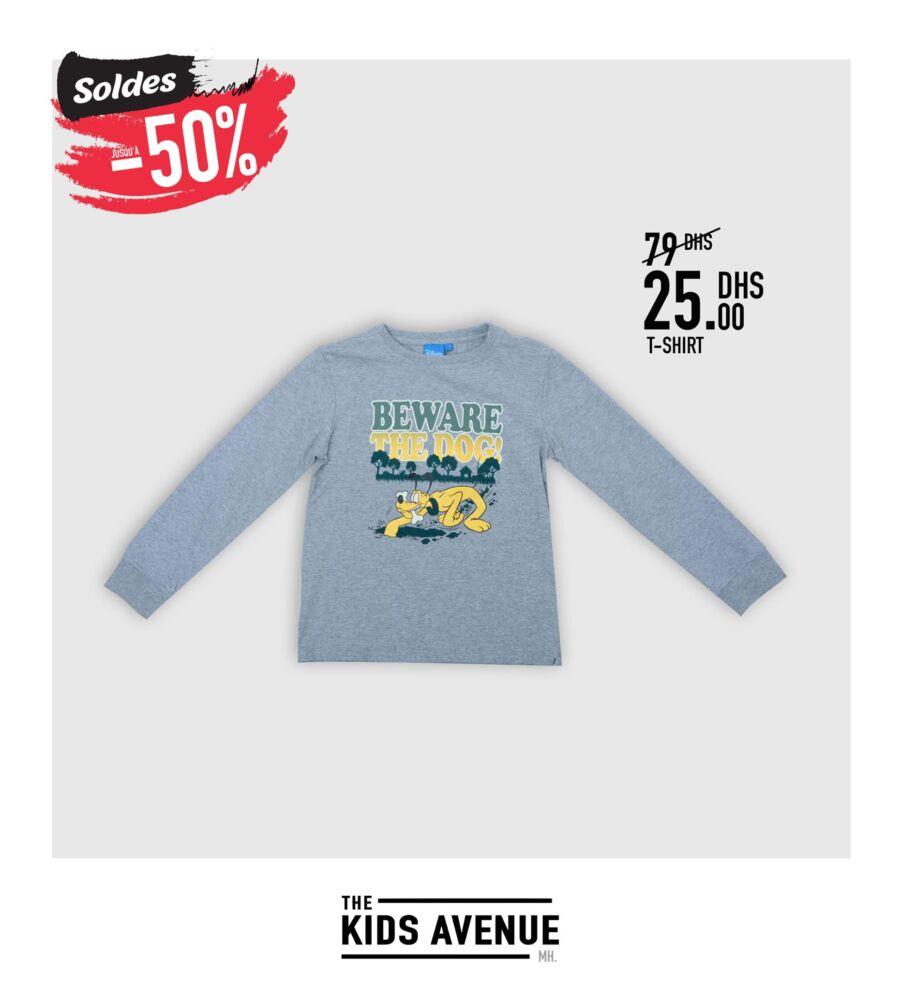 Soldes Kids Avenue chez Miro Home T-shirt pour enfants 25Dhs au lieu de 79Dhs