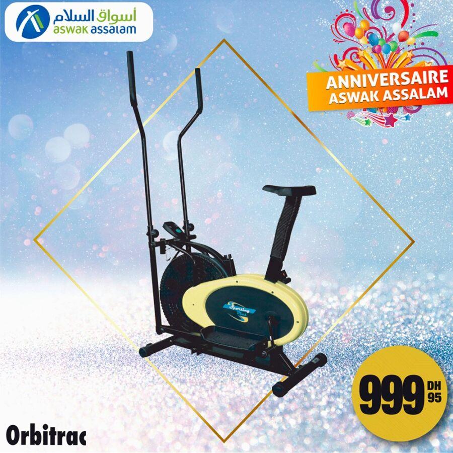 Offres Anniversaire chez Aswak Assalam Vélo de sport maison à 999Dhs