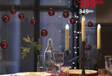 Soldes Ikea Maroc Chandelier 3 braches à LED STRALA 199Dhs au lieu de 349Dhs