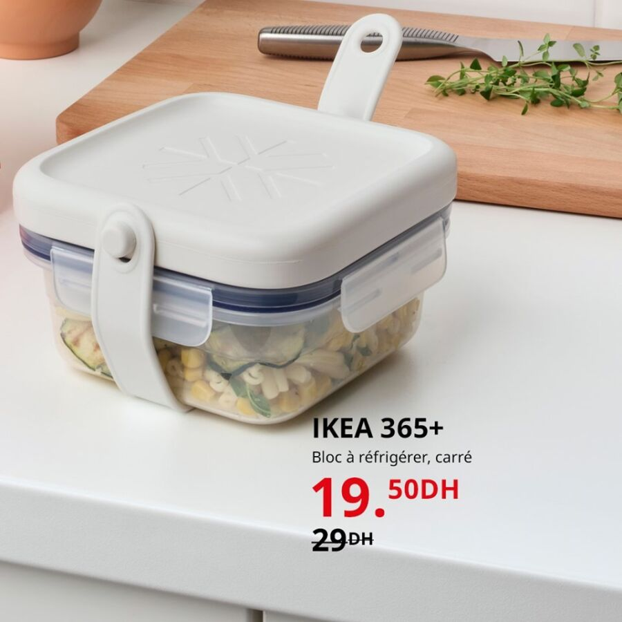 Soldes Ikea Maroc Bloc à réfrigérer carré 19.50Dhs au lieu de 29Dhs