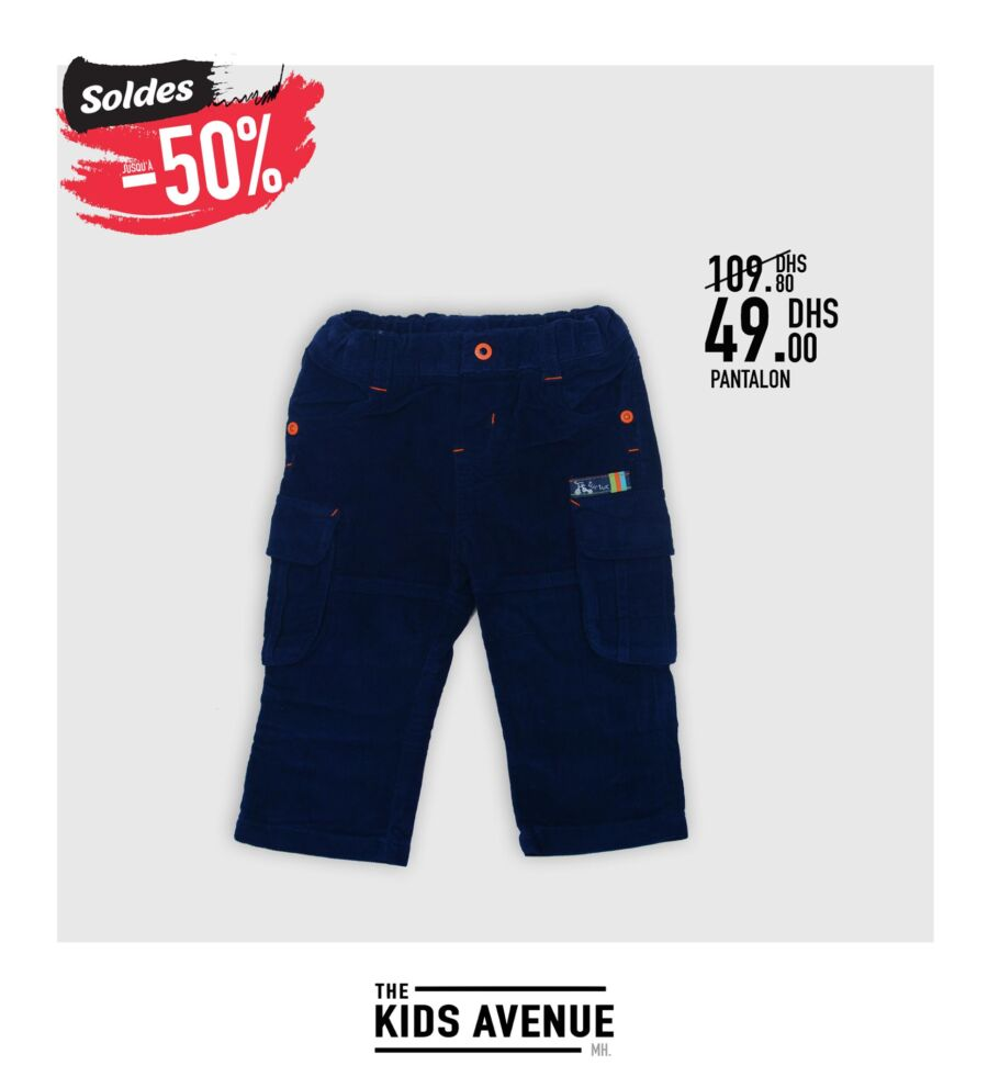 Soldes Kids Avenue chez Miro Home Pantalon pour enfants 49Dhs au lieu de 109Dhs