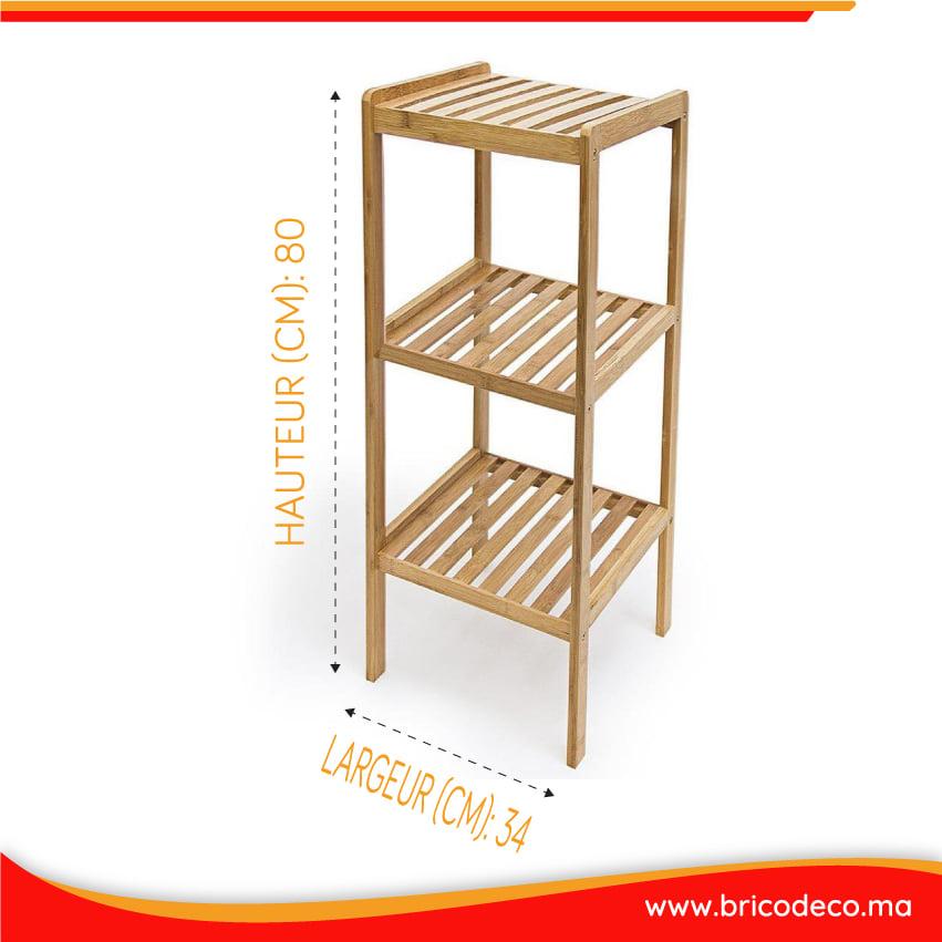 Vente flash Bricodéco Meuble 3 étagères Bambou 299Dhs au lieu de 415Dhs