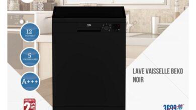 Soldes Carrefour Maroc Lave vaisselle BEKO 12couv noir 2899Dhs au lieu de 3699Dhs