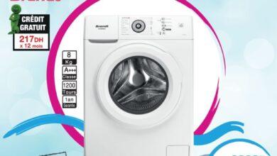 Soldes chez Aswak Assalam Machine à laver 8Kg BRANDT 2599Dhs au lieu de 3099Dhs