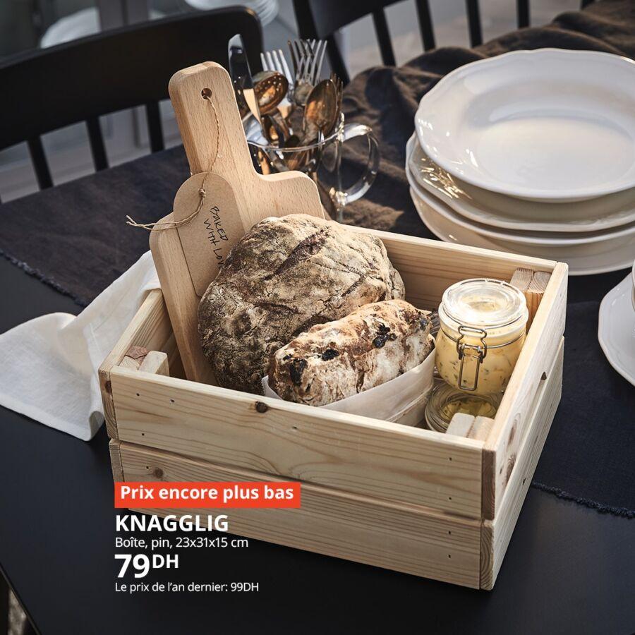 Soldes Ikea Maroc Boîte pin KNAGGLIG 79Dhs au lieu de 99Dhs