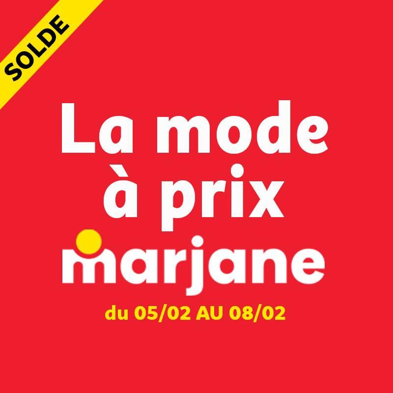 Soldes chez Marjane La mode à prix Marjane du 5 au 8 Février 2021