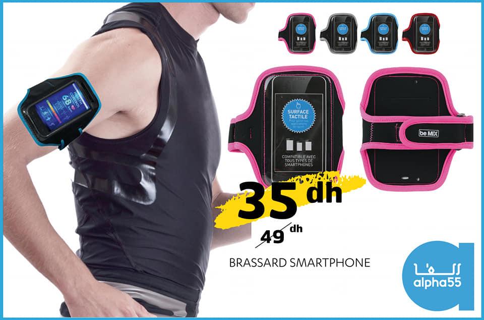 Offre Promotionnel chez Alpha55 Brassard sport pour smartphone à 35Dhs au lieu de 49Dhs