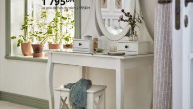 Soldes Ikea Maroc Coiffeuse avec miroir blanc HEMNES 1795Dhs au lieu de 2995Dhs