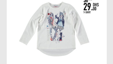 Soldes -50% chez Kids Avenue chez Miro Home T-shirt pour fille 29Dhs au lieu de 58Dhs