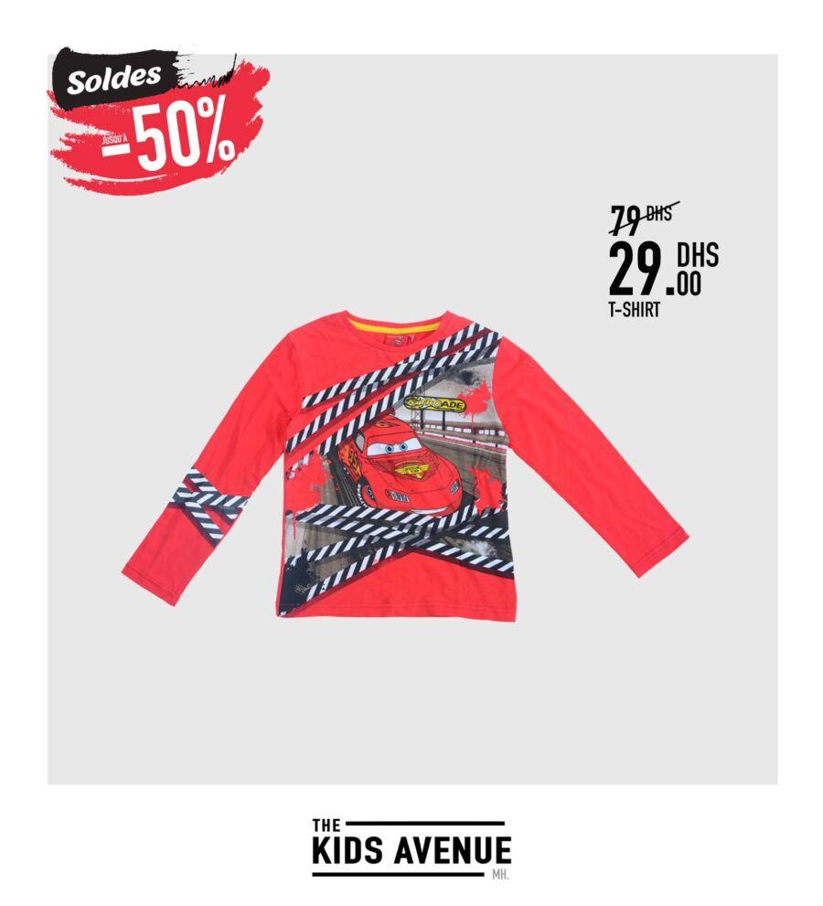 Soldes -50% chez Kids Avenue à Miro Home T-shirt demi saison Enfant 29Dhs au lieu de 79Dhs