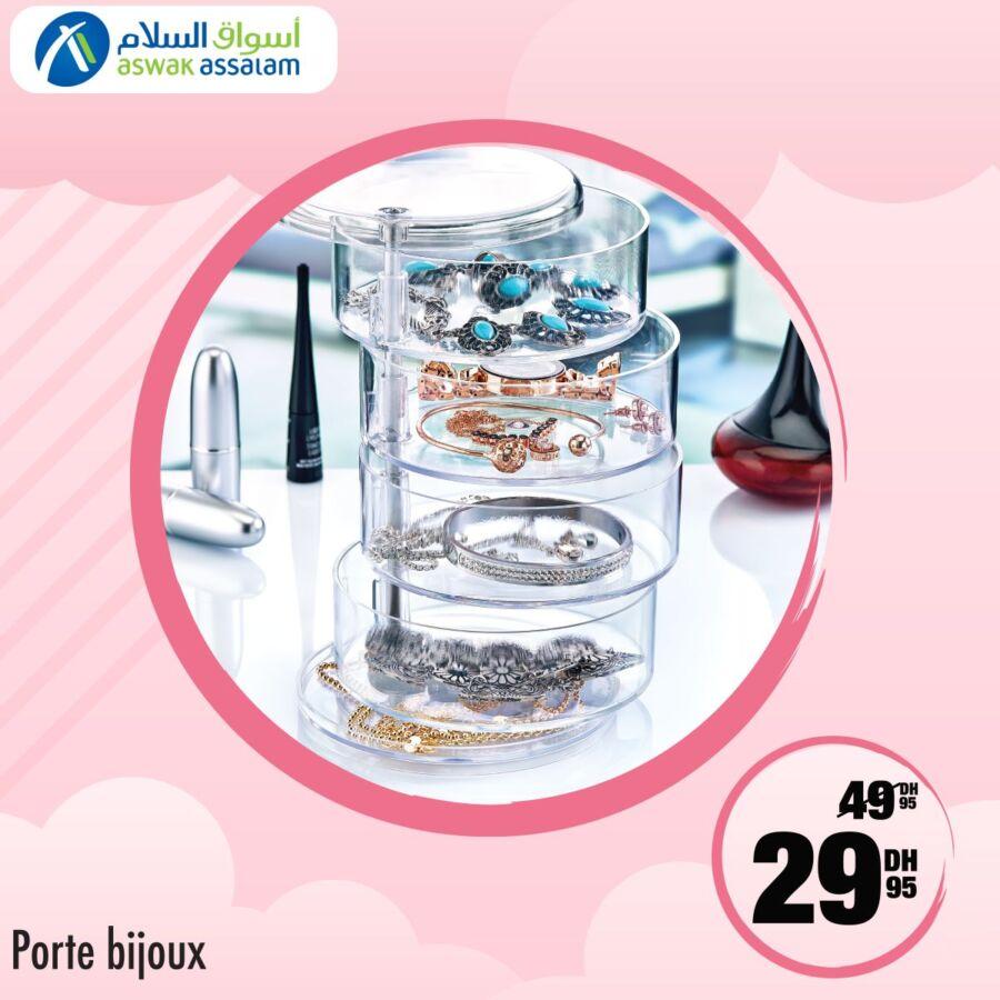 Soldes Beauté chez Aswak Assalam Porte bijoux 30Dhs au lieu de 50Dhs