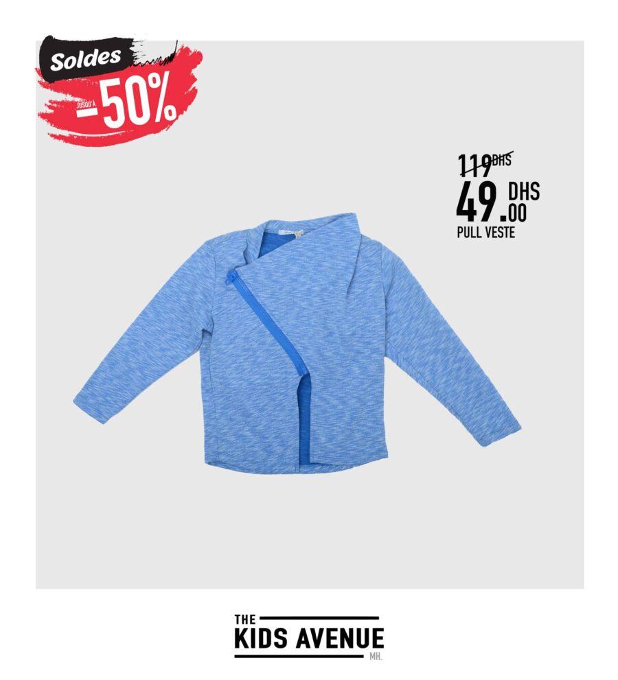 Soldes -50% chez Kids Avenue à Miro Home Pull veste Enfant 49Dhs au lieu de 119Dhs