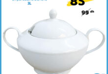 Soldes chez Alpha55 Soupière classique en porcelaine 3L 85Dhs au lieu de 99Dhs