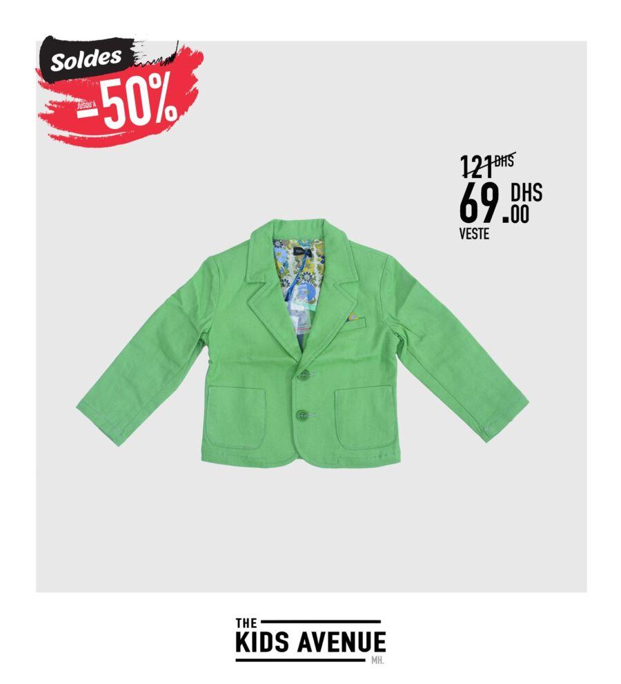 Soldes -50% chez Kids Avenue à Miro Home Veste pour bébé 69Dhs au lieu de 121Dhs