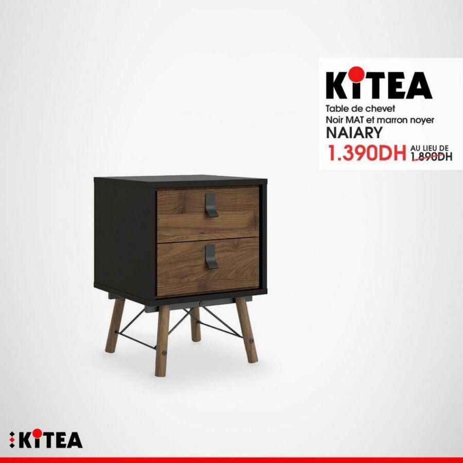 Soldes chez Kitea Table de chevet noir mat NAIARY 1390Dhs au lieu de 1890Dhs