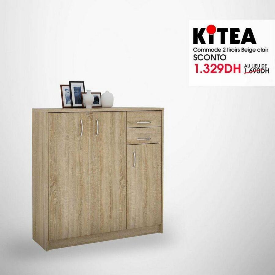 Soldes Kitea Commode 2 tiroirs SCONTO 1329Dhs au lieu de 1690Dhs