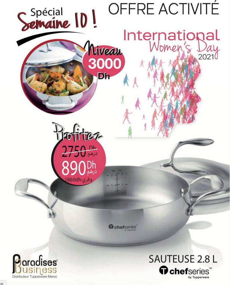 Catalogue Tupperware Maroc Spécial semaine 10 Jusqu'au Dimanche 14  Mars 2021