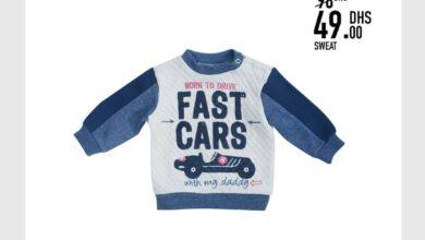 Soldes -50% Kids Avenue Sweat-shirt bébé garçon 49Dhs au lieu de 98Dhs